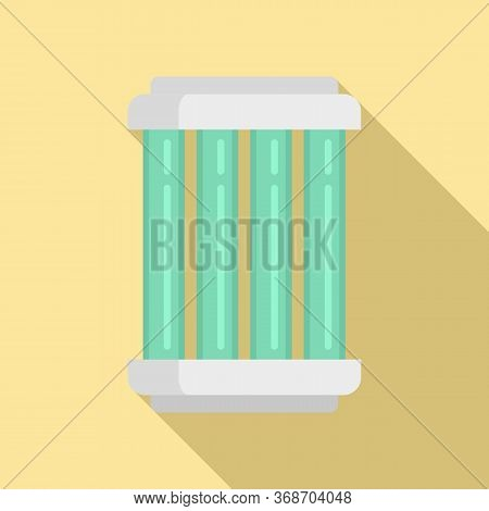 Nuclear Capsule Icon. Flat Illustration Of Nuclear Capsule Vector Icon For Web Design