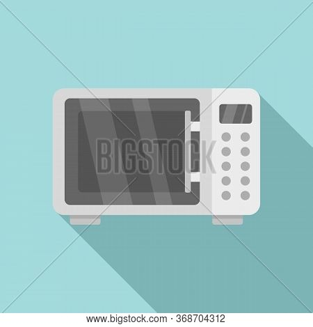 Microwave Radiation Icon. Flat Illustration Of Microwave Radiation Vector Icon For Web Design
