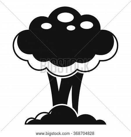 Nuclear Mushroom Icon. Simple Illustration Of Nuclear Mushroom Vector Icon For Web Design Isolated O