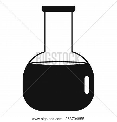 Radiation Flask Icon. Simple Illustration Of Radiation Flask Vector Icon For Web Design Isolated On