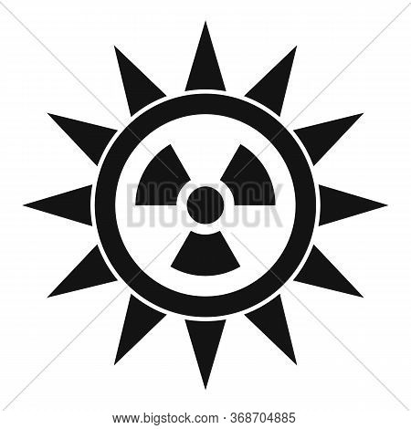 Sun Radiation Icon. Simple Illustration Of Sun Radiation Vector Icon For Web Design Isolated On Whit