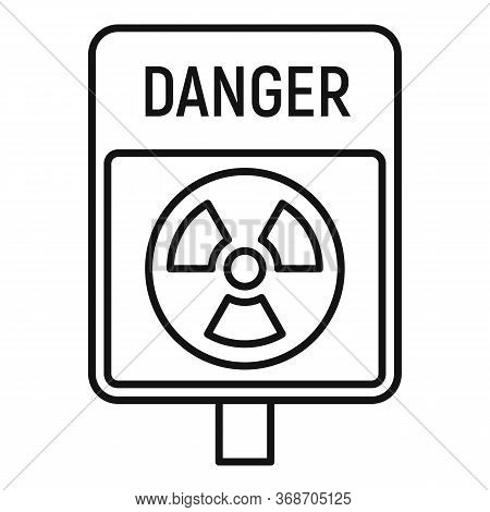 Danger Zone Icon. Outline Danger Zone Vector Icon For Web Design Isolated On White Background