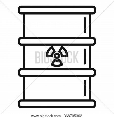 Radiation Barrel Icon. Outline Radiation Barrel Vector Icon For Web Design Isolated On White Backgro