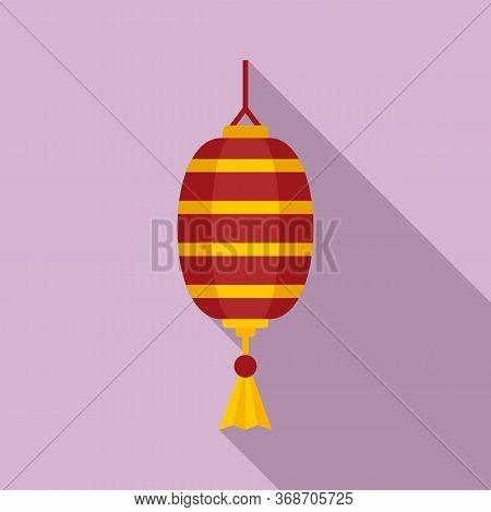 Design Chinese Lantern Icon. Flat Illustration Of Design Chinese Lantern Vector Icon For Web Design