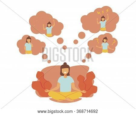 Feelings Vector Illustration. Flat Tiny Behavior Expression Persons Concept. Various Emotions And Mo