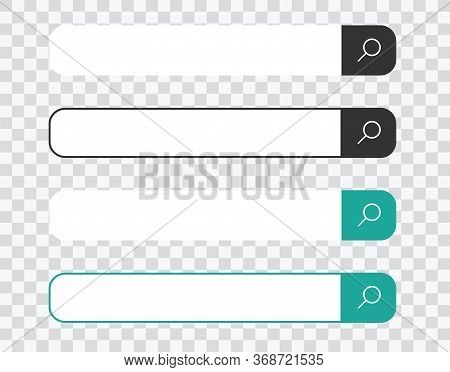 Search Bar For Ui, Design And Web Site. Search Address And Navigation Bar Icon On Transparent Backgr