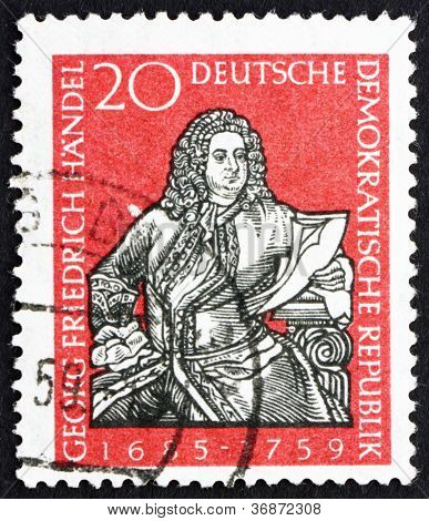 Postage stamp GDR 1959 George Frederick Handel, Composer