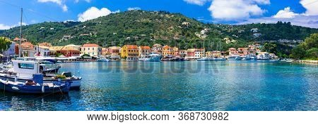 Ionian islands of Greece- beautiful Paxos, with turquoise sea and pictorial village Lakka