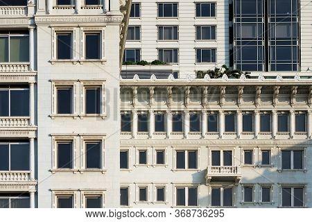 Window Detail A Modern High Rise Condominium Tower Rising