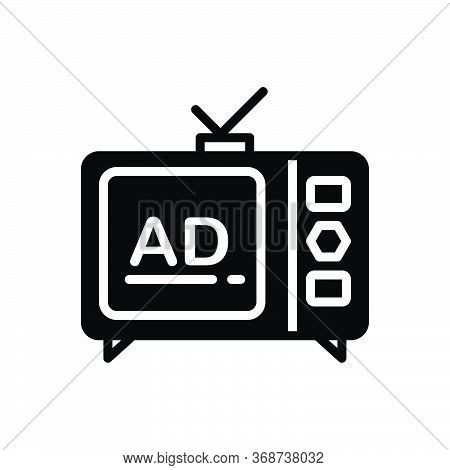 Black Solid Icon For Advertisement Advertising Blurb Lettering Reclame  Branding