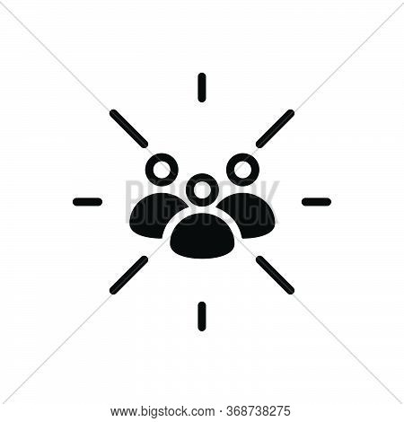 Black Solid Icon For Focus-group Focus Group  Team Cluster Conglomeration Congregation