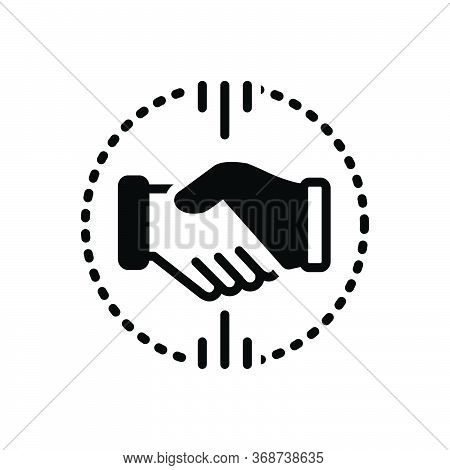 Black Solid Icon For Acquisitions  Mergers  Acquirer  Partnership Handshake