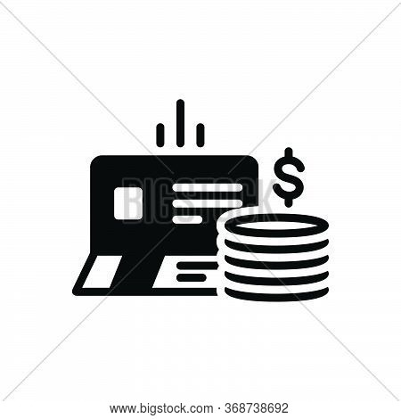 Black Solid Icon For Bankbook Account Deposit Passbook Currency
