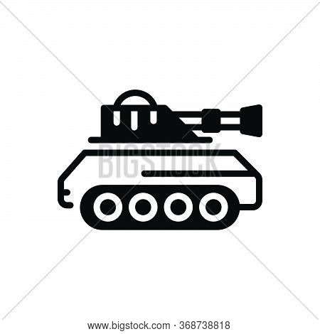 Black Solid Icon For Tank  Army   Battle Vehicle Gulf Attack Fight Vehicle