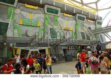 Sentosa, Sg - April 5 - Universal Studios Singapore Transformers The Ride Facade On April 5, 2012 In