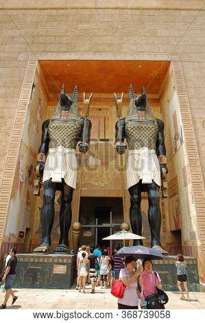 Sentosa, Sg - April 5 - Universal Studios Singapore Revenge Of The Mummy Ride Facade On April 5, 201