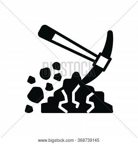 Black Solid Icon For Digging Shovel Dig Mud Tool
