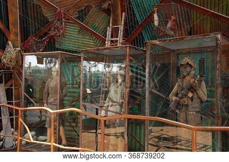 Sentosa, Sg - April 5 - Universal Studios Singapore Water World Theme Mannequin Displays On April 5,