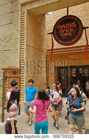 Sentosa, Sg - April 5 - Universal Studios Singapore Oasis Spice Cafe Facadeon April 5, 2012 In Sento