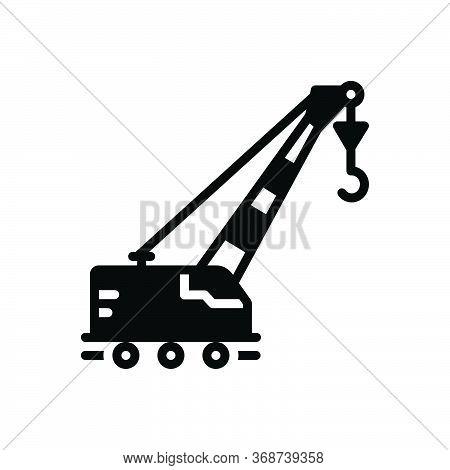 Black Solid Icon For Lifting-crane Lifting Crane Vehicle Pneumatic