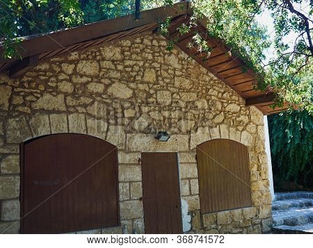 Beautiful Authentic Tradional Cypriot Coutry Village House Build Of Stone - Paphos Cyprus - July 201