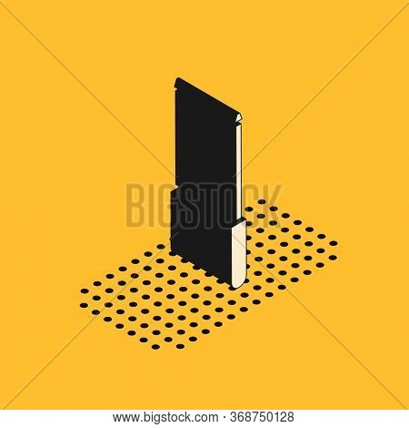 Isometric Knife Sharpener Icon Isolated On Yellow Background. Vector Illustration.