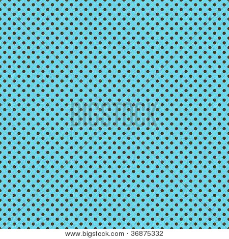 Brown Dots on Bright Turquoise