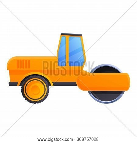 Cabin Road Roller Icon. Cartoon Of Cabin Road Roller Vector Icon For Web Design Isolated On White Ba