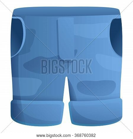 Fisherman Jeans Shorts Icon. Cartoon Of Fisherman Jeans Shorts Vector Icon For Web Design Isolated O