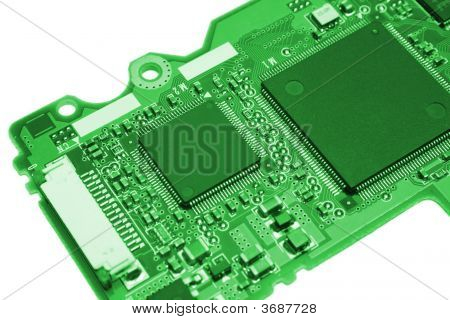 Computer Board In Green Style
