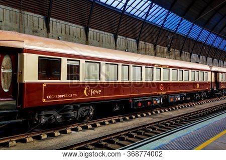 Sevilla, Andalusia, Spain  - 14 May 2013: Wagon Of An Old Superior Train At The Station Sevilla Sant