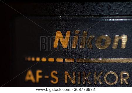 Tokyo / Japan - December 7, 2017: Macro Of Unspecified Nikon Af-s Nikkor Lens
