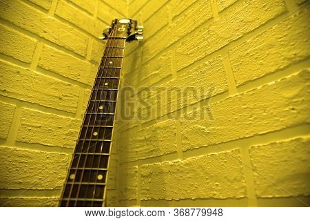 Guitar Fretboard. Guitar Fingerboard Different Angle Photo