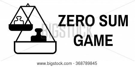 Zero Sum Game Black Stamp On White