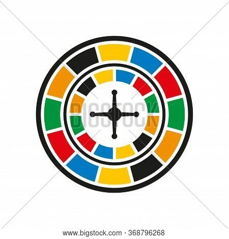 Roulette Casino Icon Vector Design Templates