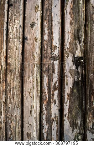 The Old Wood Varnished Texture. Timber Surface Of A Bench Pattern, Background.