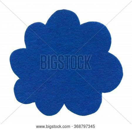 A Felt Cloud Isolated. Decorative Item For Decoration, Greeting Cards, Packaging, Scene Creator And
