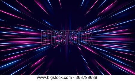 High Speed Neon Hyper Jump. Futuristic Neon