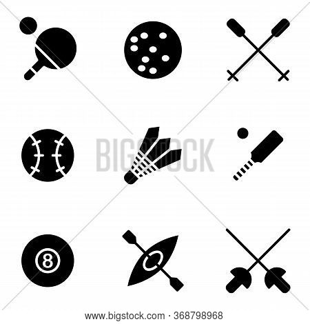 Sport Icon Set Outline Style Including Ping Pong, Ball, Field, Game, Play, Competition, Ski, Sports,
