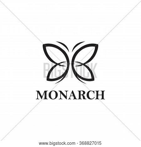 Monarch Logo Vector And Animal Templates,logo, Monarch