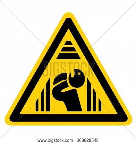 Warning Confined Space Symbol Sign, Vector Illustration, Isolate On White Background Label .eps10
