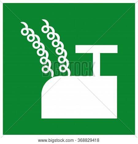Blasting Point Symbol Sign, Vector Illustration, Isolate On White Background Label .eps10