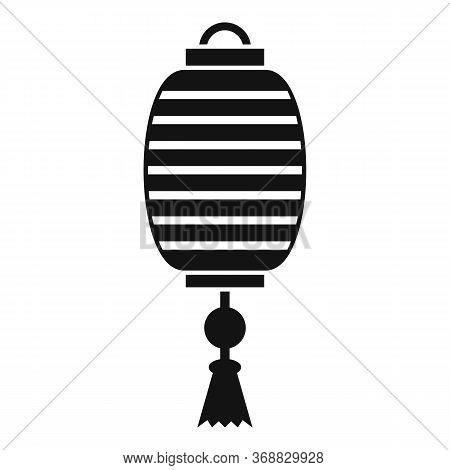 Silk Chinese Lantern Icon. Simple Illustration Of Silk Chinese Lantern Vector Icon For Web Design Is