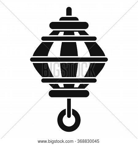 Decor Chinese Lantern Icon. Simple Illustration Of Decor Chinese Lantern Vector Icon For Web Design
