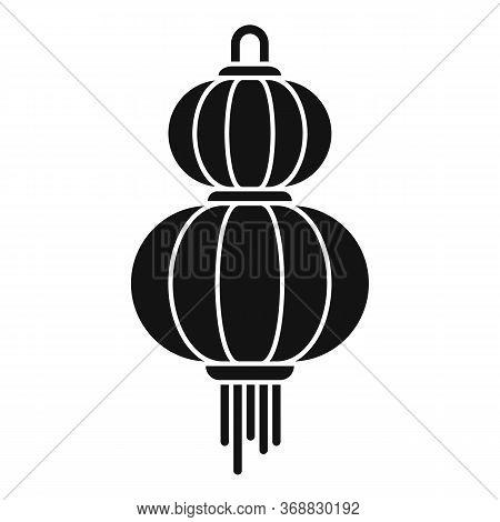 Paper Chinese Lantern Icon. Simple Illustration Of Paper Chinese Lantern Vector Icon For Web Design
