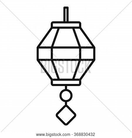 Painting Chinese Lantern Icon. Outline Painting Chinese Lantern Vector Icon For Web Design Isolated
