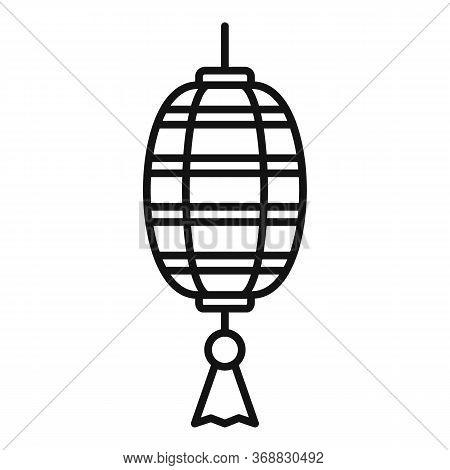 Design Chinese Lantern Icon. Outline Design Chinese Lantern Vector Icon For Web Design Isolated On W