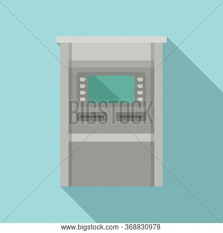 Atm Terminal Icon. Flat Illustration Of Atm Terminal Vector Icon For Web Design