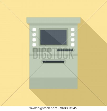 Atm Cashpoint Icon. Flat Illustration Of Atm Cashpoint Vector Icon For Web Design