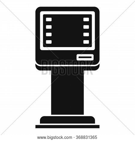 Money Atm Icon. Simple Illustration Of Money Atm Vector Icon For Web Design Isolated On White Backgr